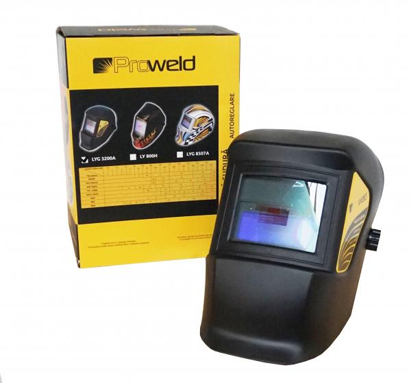 Pachet ProWeld MMA-220DLS - Invertor sudura, profesional, IGBT, Garantie 3 ani + Masca de sudura cu cristale lichide ProWeld LYG-3200A 4